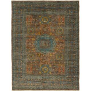 Hand Knotted Mamluk Ziegler Wool Area Rug - 4' 10 x 6' 7