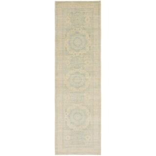 Hand Knotted Mamluk Ziegler Wool Runner Rug - 4' x 14' 2
