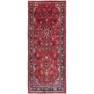 Hand Knotted Mahal Semi Antique Wool Runner Rug - 4' x 9' 8