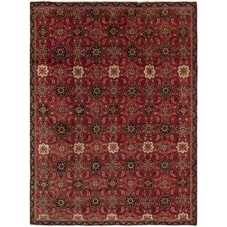 Hand Knotted Mahal Semi Antique Wool Area Rug - 7' 8 x 10' 2