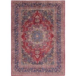 Hand Knotted Mashad Wool Area Rug - 8' 2 x 11' 3