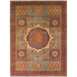 Hand Knotted Mamluk Ziegler Wool Area Rug - 10' 3 x 13' 7