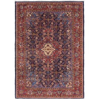 Hand Knotted Mahal Wool Area Rug - 8' x 11' 5