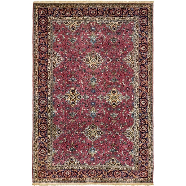 Shop Hand Knotted Mashad Antique Wool Area Rug 7 7 X 11 6 On