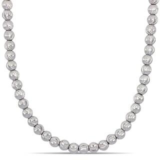 Miadora 18k White Gold Graduated Ball Strand Necklace