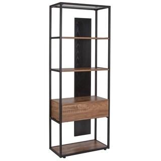 Lancaster Home Tiverton Collection Brown Metal Industrial Bookshelf