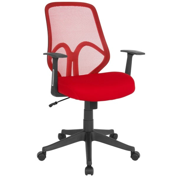 High Back Mesh Office Chair with Arms - Computer Chair - Swivel Chair
