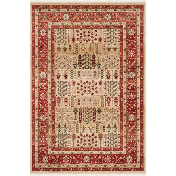 Lauren Ralph Margaux Rug Red Beige 5 1 X 7 6 Free Shipping Today 24013988