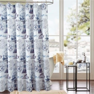 Classic Maritime 70 x 72 in. Printed Shower Curtain