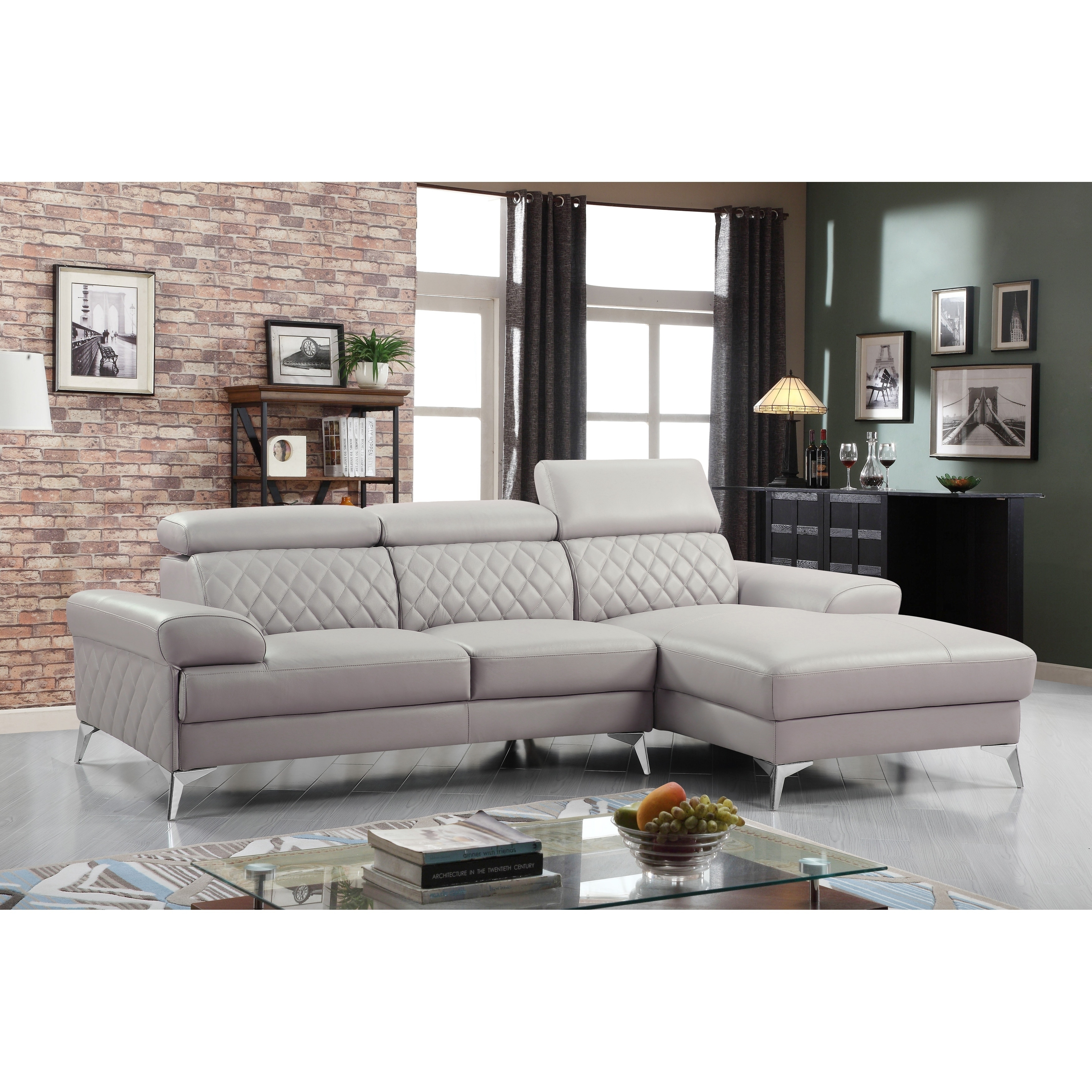 Grey Leather Sectional Sofas Online At Our Best Living Room Furniture Deals