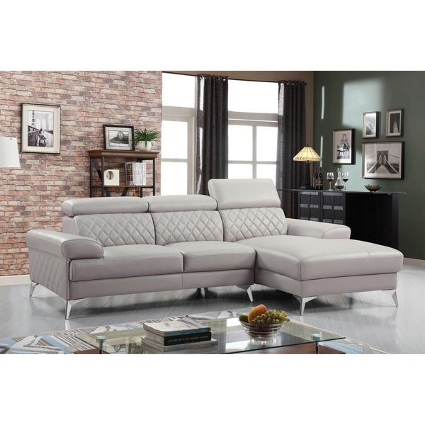 Best Quality Furniture Modern Leather Sectional Loveseat Set With Right Facing Chaise Free Shipping Today 24014685