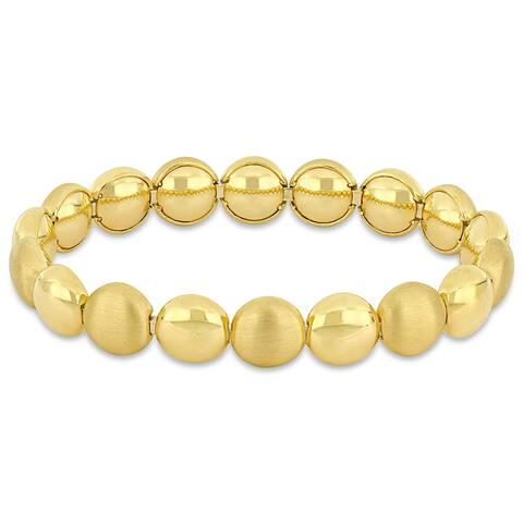 Miadora 18k Yellow Gold Beaded Stretch Bracelet