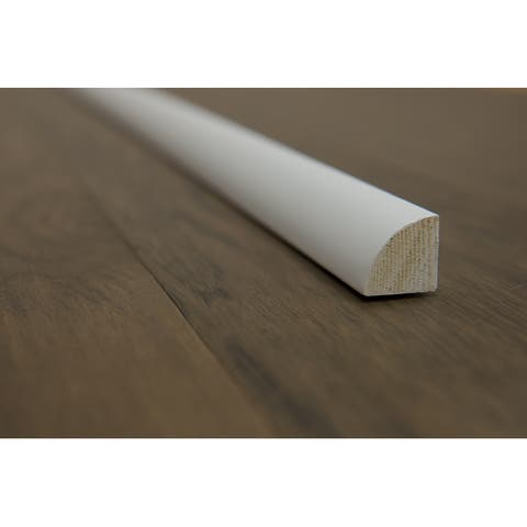 "Quarter Round Moulding - White Painted - 3/4"" x 3/4"" x 90"" (25sqft/case) - 3/4"" x 3/4"" x 90"""