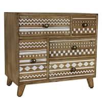 Modern Designs Mayan 5-Drawer Wood Jewelry Box