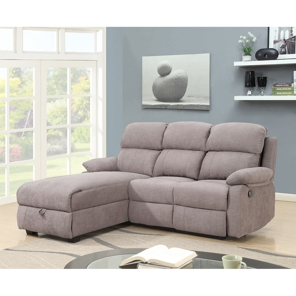 Melody Recliner L Shaped Corner Sectional Sofa With Storage 66 X 80