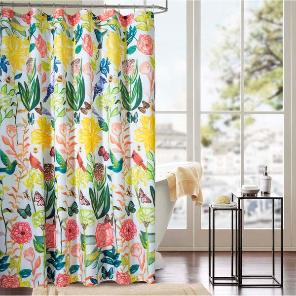 Classic Wildflower 70 X 72 In Printed Shower Curtain
