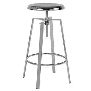 Toledo Industrial Style Barstool with Swivel Lift Adjustable Height Seat