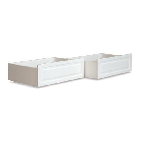 Raised Panel Bed Drawer Twin-Full White