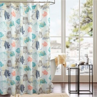 Classic Sea Life 70 x 72 in. Printed Shower Curtain
