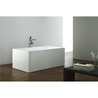 Lauryn Freestanding Air Jetted Bath Tub W/ LED Lighting
