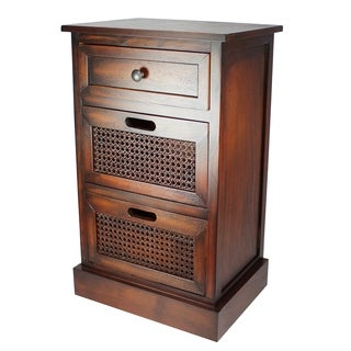 Modern Designs 3-Drawer Wooden Storage Chest Nightstand