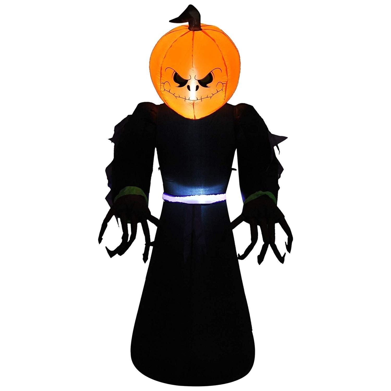 Halloween Airblown Inflatable Pumpkin Reaper Ghost Blow Up