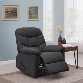 Copper Grove Ghent Dark Grey Velvet Wall Hugger Recliner Chair