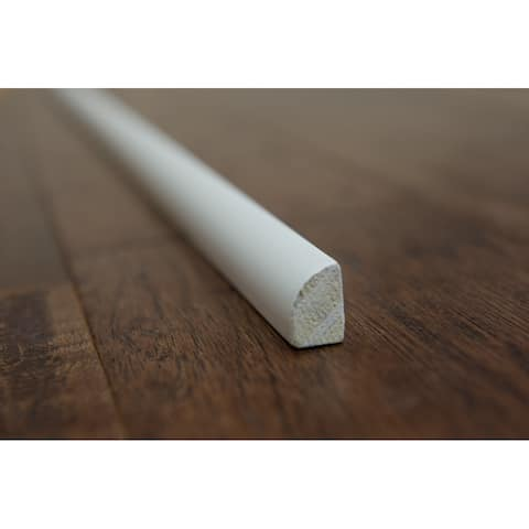 "Shoe Molding - White Painted - 1/2"" x 3/4"" x 90"" (25sqft/case) - 1/2"" x 3/4"" x 90"""