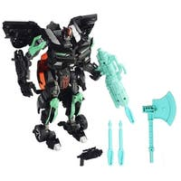 Transforming Action Combat Robot Transformer Black Chevy Coupe Sports Car Action Figure
