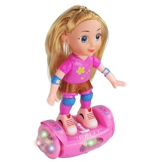 """Battery Operated 11"""" Tall Segway Balance Doll, Does 360 Degree Spins and it Plays Music!"""