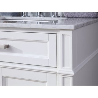 "30"" Tennant Brand Durand Modern White Bathroom Sink Vanity"