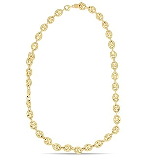 Miadora 18k Yellow Gold Mariner Link Ball Necklace