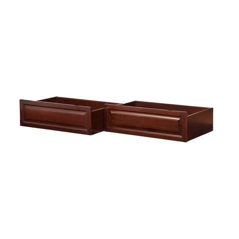 Raised Panel Bed Drawer Twin-Full Walnut