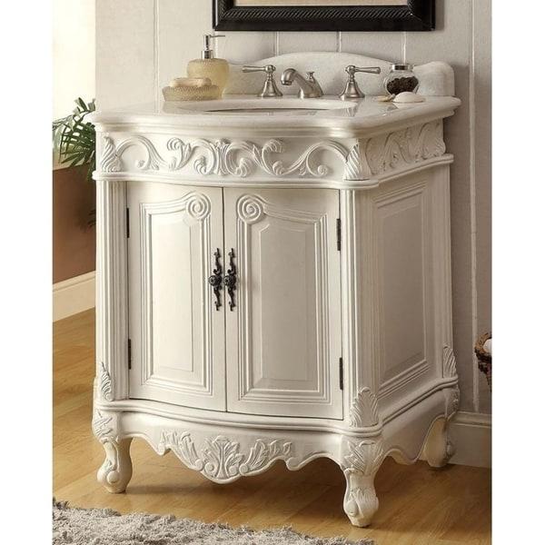 27 Benton Collection Hayman Victorian White Bathroom Vanity