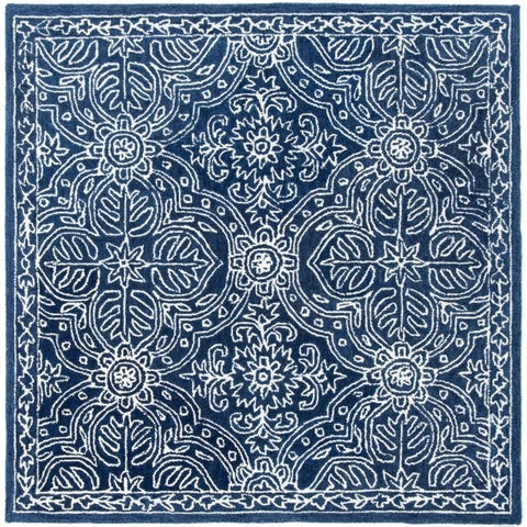 Lauren Ralph Lauren Etienne Area Rug- Navy/Ivory - 5' x 5' Square