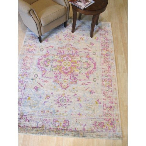 "Ivory Bohemian Abstract Capella Rug - 4'3"" x 5'11"""
