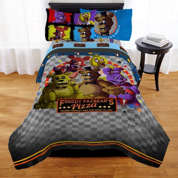 """shop five nights at freddy's """"pizza security"""" bed in a bag - free"""