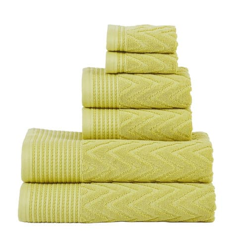 Miranda Haus 100-Percent Cotton Chevron 6-Piece Towel Set