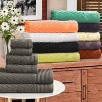 Superior 100-Percent Cotton Chevron 6-Piece Towel Set