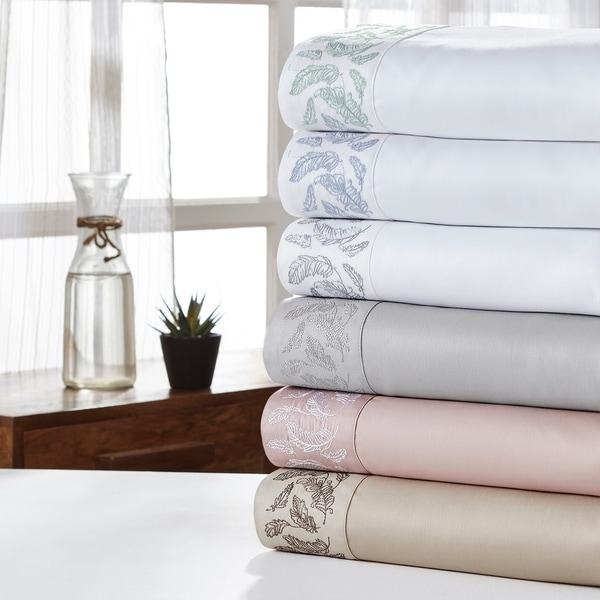 Amrapur Overseas Feather 1000 Thread Count 4-Piece Sheet Set