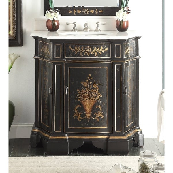 Shop 35 Benton Collection Crossfield Antique Style Black Bathroom
