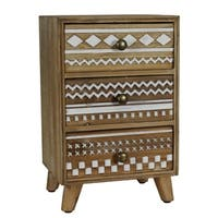 Modern Designs Mayan 3-Drawer Wood Jewelry Box