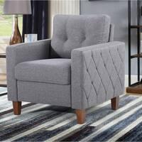 US Pride Furniture Persis Tufted Mid-century Armchair