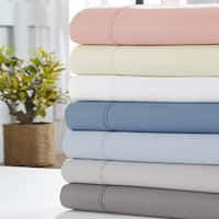 Amrapur Overseas 1800 Thread Count 4-Piece Sheet Set