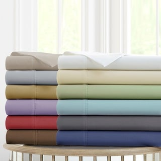 Link to Modern Threads Deep-Pocket Ultra-Soft Solid 4-Piece Bed Sheet Set Similar Items in Bed Sheets & Pillowcases