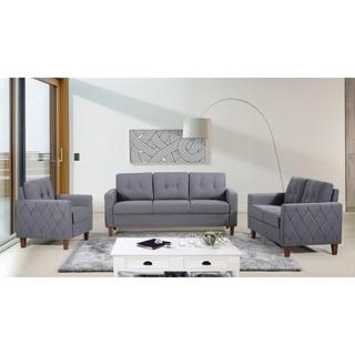 Harrad Tufted Mid-Century 3 Piece Living Room Set