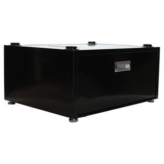 Pedestal With Storage Drawer, Black - N/A