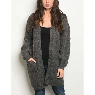 JED Women's Chunky Knit Open Front Cardigan