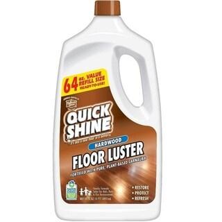 Quick Shine High Traffic Hardwood Floor Luster and Polish, 64 oz Refill Bottle, 4 Pack