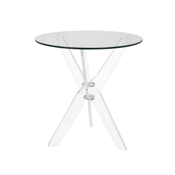 Ordinaire Shop Russ160 Clear Acrylic/Glass 22 Inch Round Accent Table   On Sale    Free Shipping Today   Overstock   24018315